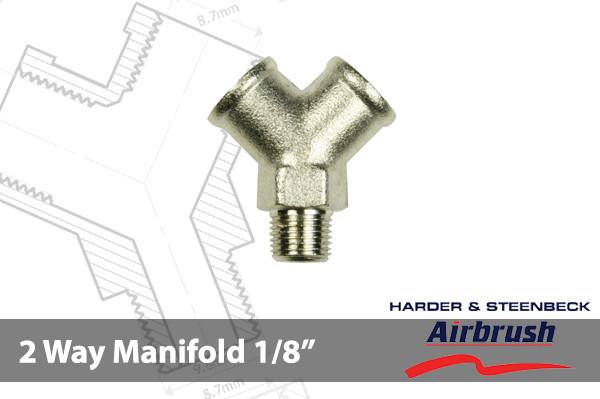 """HS 105893 Verteiler 2 fach 1/8"""" G 1/8 AG 2x 1/8"""" IG"""