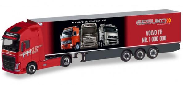 """Herpa 310024 Volvo FH GL XL Kühlkoffer-Sattelzug """"Gesuko / der 1.000.000ste Volvo"""""""