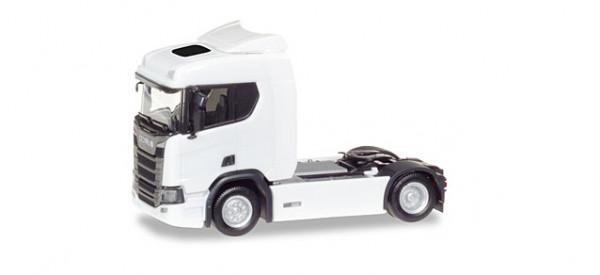 Herpa 307642 Scania CR 20 ND Zugmaschine, weiß