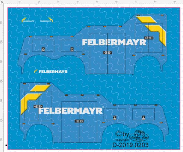 D-2019.0203 - Decalsatz Wrecker Felbermayr - 1 Stk - 1:87