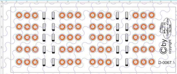 D-0067.1 Rücklichter LED Rund - Decalsatz 10 Paar 1:87