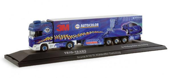 Herpa 121268 Scania R04 TL 3M Truck Trio Trans in PC Vitrine