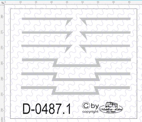 D-0487.1 - Decalsatz Scania R Zierstreifen ohne dünner Kontur 1:87
