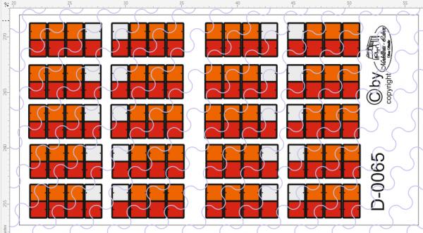 D-0065 Rückleuchte 8 Kammer - Decalsatz 10 Paar 1:87