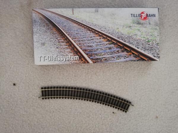 Tillig TT Club 83109 Gleis gebogen ohne Gleisbett 1:120 1 Stk.