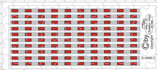 D-0066.3 Begrenzungslichter rot / Silber - Decalsatz 100 Stück 1:87