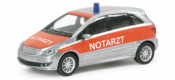 "Herpa 046985 Mercedes-Benz B-Klasse ""NOTARZT"" in silbermet./rot"