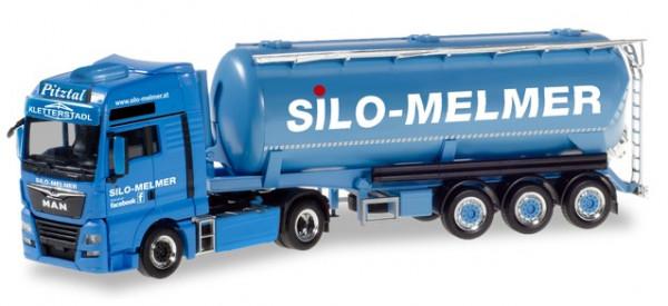 "Herpa 310574 MAN TGX XXL Euro 6c Silo-Sattelzug ""Silo Melmer/ Kletterstadl"" (A)"