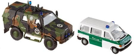 Roco 5401 minitank 1:87 Dingo und VW T 4 Police Neu in OVP