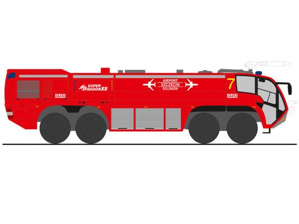 Rietze 68359, Magirus Dragon X8, Airport Stettin, Polen, neu, OVP, Feuerwehr