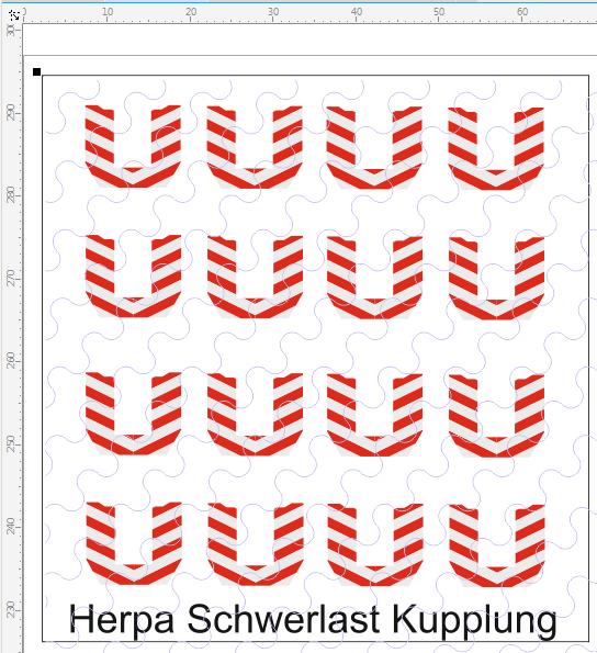 D-2017.037 Warnmakierung für Herpa Schwerlastkupplungen 16 Stück 1:87