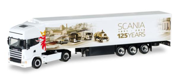 """Herpa 306454 Scania """"125 Jahre"""", Scania 164 Topline Schubboden Aufl. (Herbst-Specials)"""