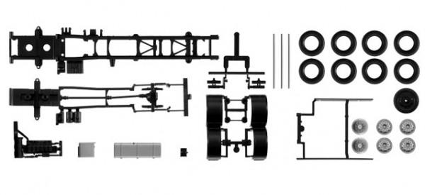 084376 Fahrgestell MAN TGX / TGS 3-achs Inhalt: 2 Stück
