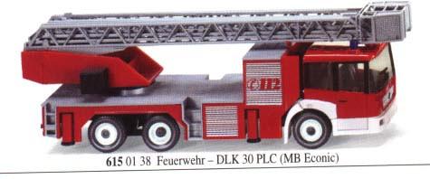 Wiking 6150138 Feuerwehr DLK 30 PLC Mercedes Benz Econic