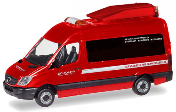 Herpa 093514 Scholpp, MB Sprinter BF3 Begleitfahrzeug (Messe-Special)