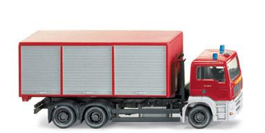 Wiking 6254037 Feuerwehr mit Abrollcontainer MAN