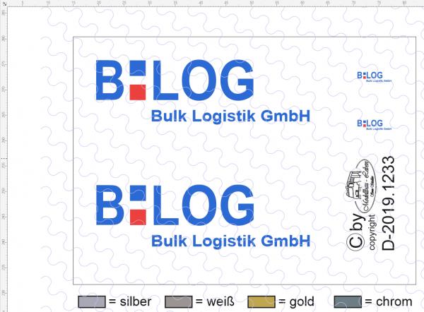 D-2019.1233 - Decalsatz Bulk Logistik für Auflieger und Fahrerhaus - 1 Satz 1:87