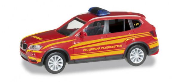 """Herpa 092050 BMW X3 Kommandofahrzeug """"Feuerwehr Vaterstetten"""""""