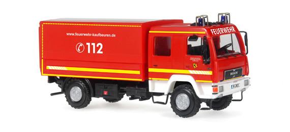 Rietze 68039 Feuerwehr MAN Dekon-P in PC Vitrine Neu OVP
