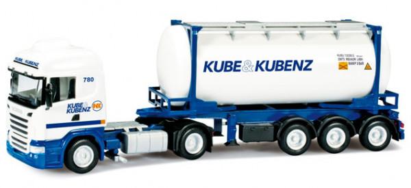 """Herpa 302432 Scania R Swapcontainer-Sattelzug """"Kube & Kubenz"""""""