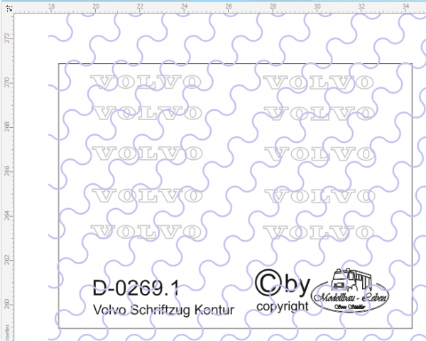 D-0269.1 - Decalsatz Volvo Schriftzug Kontur - 10 Stück 1:87