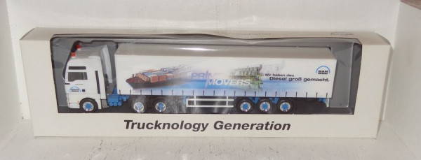 """Herpa 380690 MAN Sondermodell TGA 33.530 PRIME MOVERS """"We made the Diesel great.""""1:87 in O"""