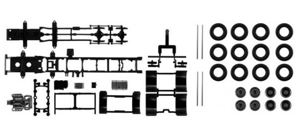 084369 Fahrgestell Mercedes-Benz 4-achs LKW Inhalt: 2 Stück