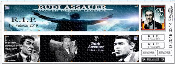 D-2019.0314 - Decalsatz Gedenksatz Rudi Assauer Auflieger - 1 Stk - 1:87
