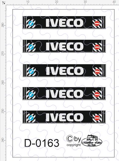 D-0163 - Decalsatz IVECO Spritzschutzlappen 5 Stück 1:87