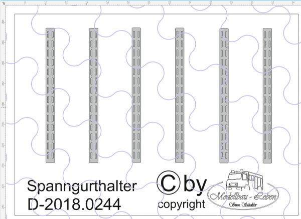 D-2018.0244 Spanngurthalter für Trailer Decalsatz 6 Stück 1:87