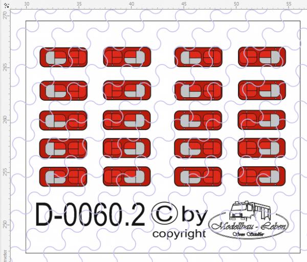 D-0060.2 Rückleuchten - Decalsatz 10 Paar 1:87