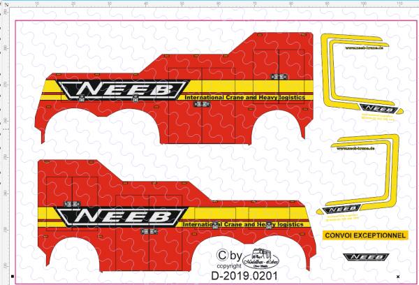 D-2019.0201 - Decalsatz Wrecker Neeb - 1 Stk - 1:87