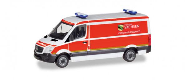 "Herpa 093354 Mercedes-Benz Sprinter Kasten ""Katastrophenschutz Freistaat Sachsen"""