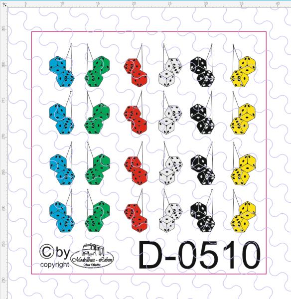 D-0510 Plüschwürfel 24 Stück 1:87