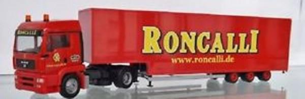 """Herpa 304658 MAN TGA LX Jumbokoffer-Sattelzug """"Roncalli"""""""