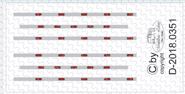 D-2018.0351 Decalsatz für Fahrerhaus Rückwand Spoilerapplikationen Lichter -1:87