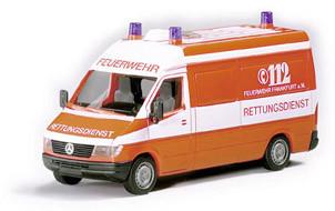 Herpa 042604 Mercedes-Benz Sprinter RTW Feuerwehr, tagesleuchtrot