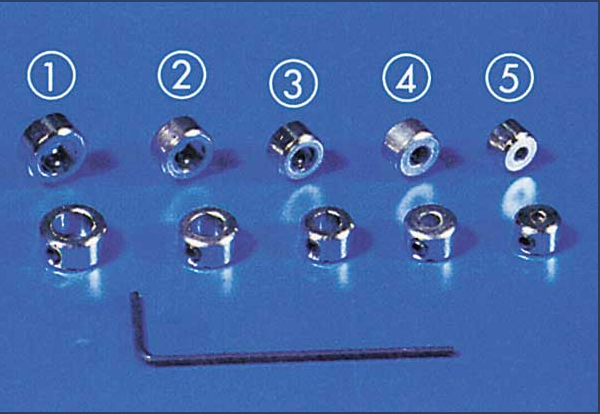 Krick 50495 - Stellringe 4 mm Innensechskant 5x