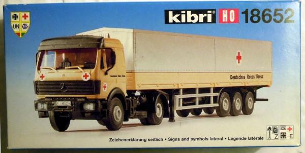 KB 18652 - Kibri MB Planen-Sattelzug, DRK Bausatz in H0