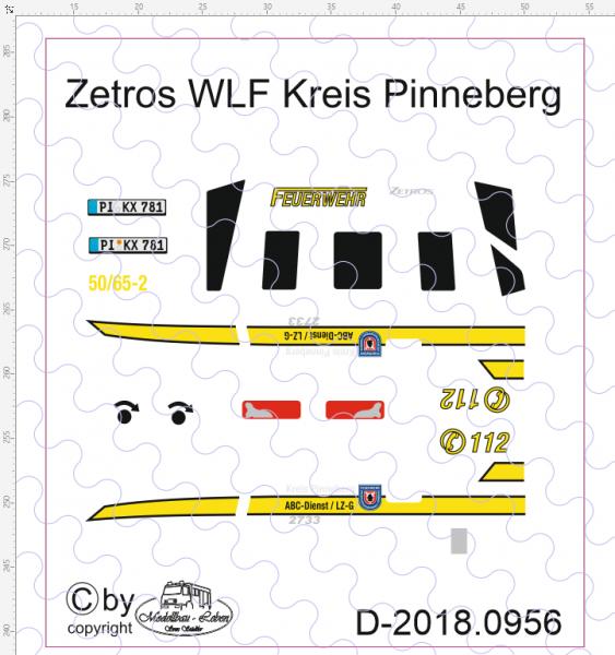 D-2018.0956 Zetros WLF Feuerwehr Kreis Pinneberg Decalsatz 1:87