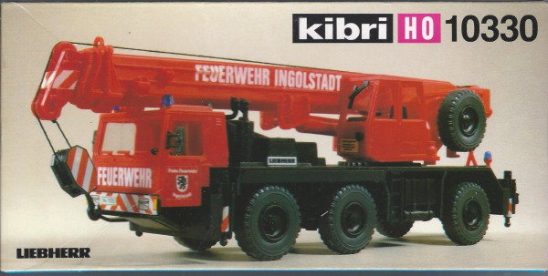 KB 10330 - Kibri Liebherr Feuerwehr Mobilkran LTM 1050/3 Bausatz H0