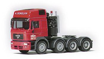 Herpa 145848 MAN F2000 Evo Schwerlast-Zugmaschine 4a 'Scholpp'