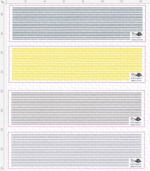 D-2019.0523 Decalsatz Warnstreifen 0,75 mm x 135 mm - 15 Stk - 1:87