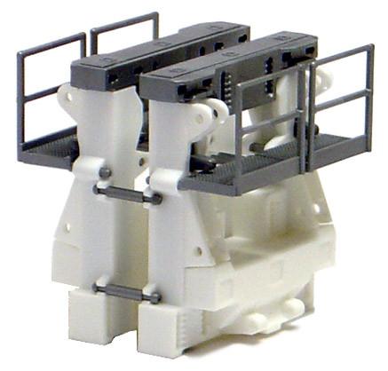 692411 Rohradapter für Goldhofer Tieflader -weiß-