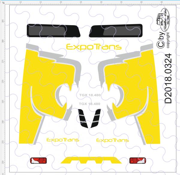 D-2018.0324 - Decalsatz MAN Yellow Lion Edition 1 Stück 1:87