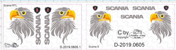 D-2019.0605.1 - Decalsatz Scania R TL Greif mit Federn - 1 Paar - 1:87
