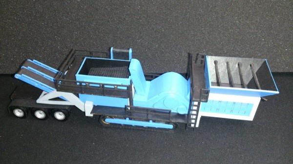 Z-0232 Lasercut Siebanlage mit Nachläufer 1:87 verschiedene Farben