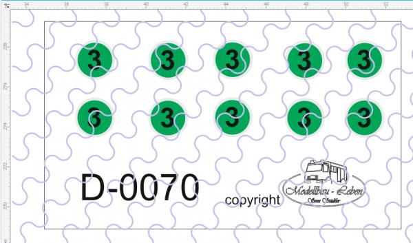 D-0070 Euro 3-Schild - Decalsatz 10 Stück 1:87