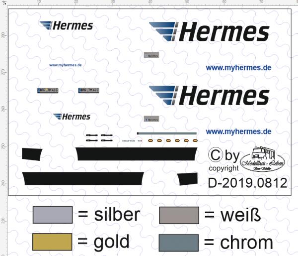 D-2019.0812 Decalsatz Hermes Crafter 1:87
