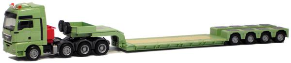Herpa 925334 MAN TGX XXL Schwerlastzugm. mit Pendel-X Tieflader